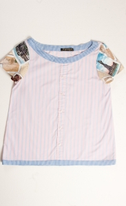 Blouse: Retrolovelies by KOTA / Style: Postcards / Size: One size M/L / Col: pink, blue, multi / Material: Cotton mix (washable) / £45