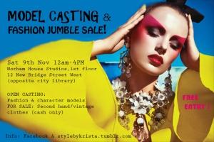 model casting flyer
